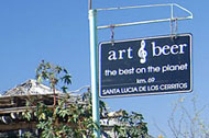 art & beer - near pescadero, on the way to todos santos, baja california sur, mexico