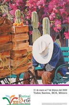 12th annual todos santos art festival poster 2009